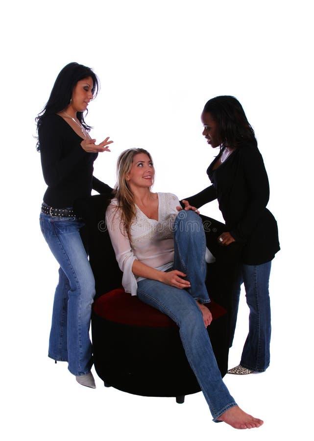 Groupe de causerie de femmes de diversité photo libre de droits