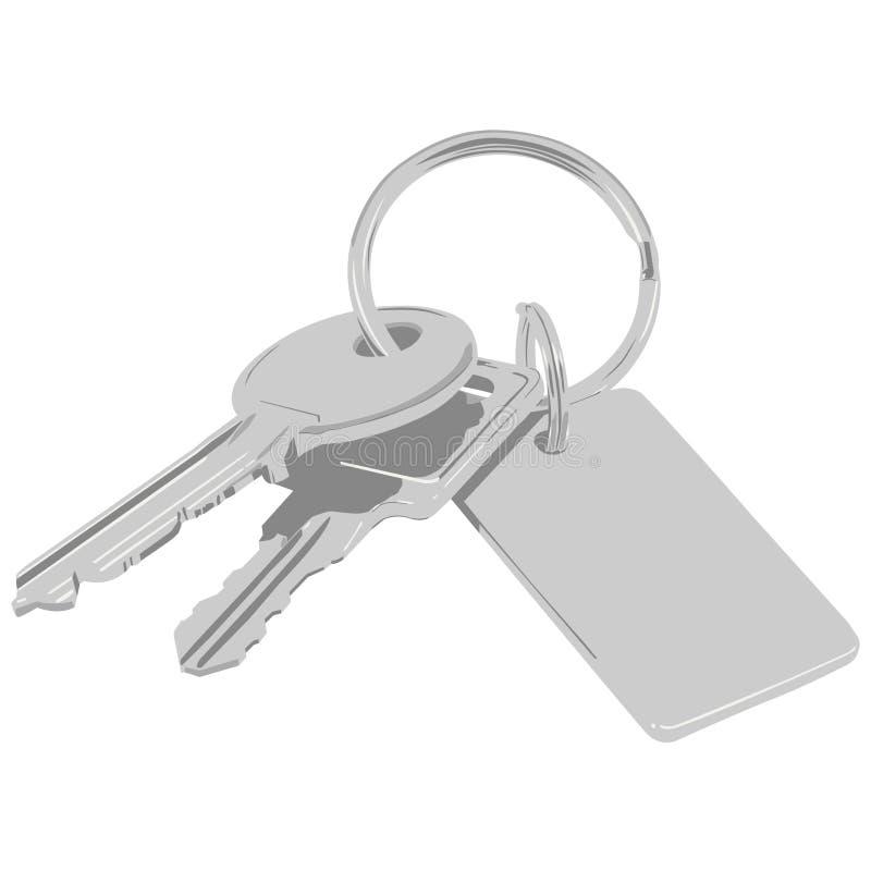 Groupe de clés. illustration stock