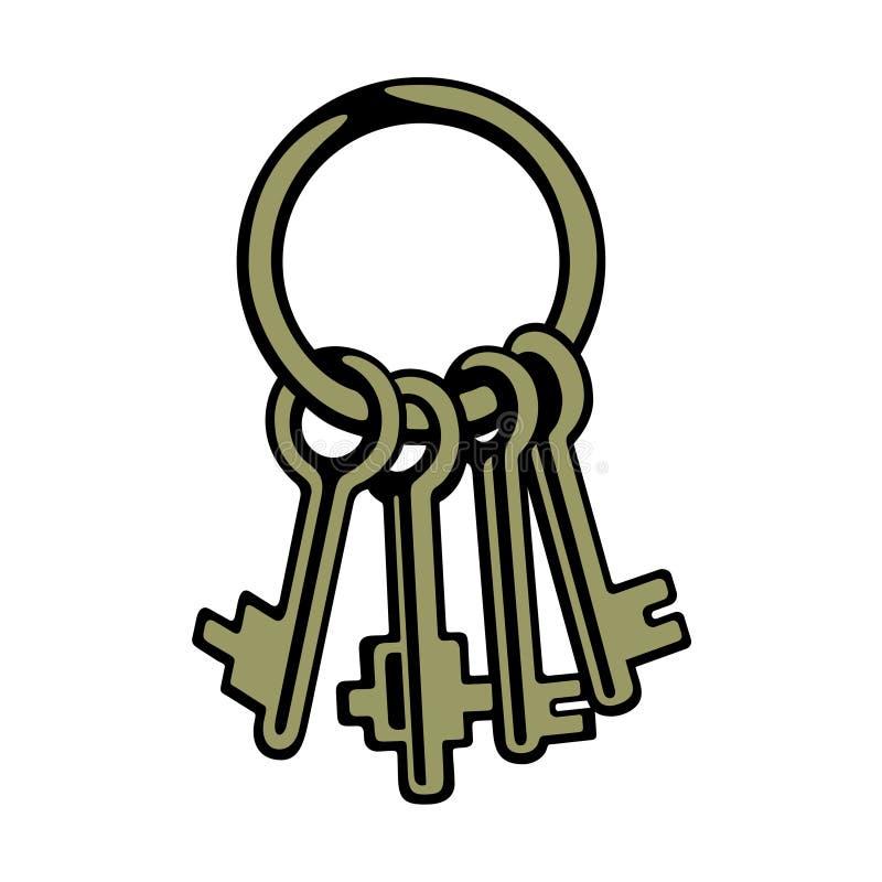 Groupe de clés illustration de vecteur