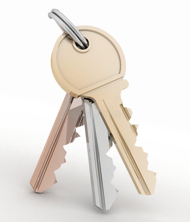 Groupe de clés de maison illustration libre de droits