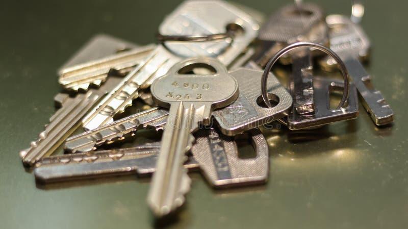 Groupe de clés en acier photos stock
