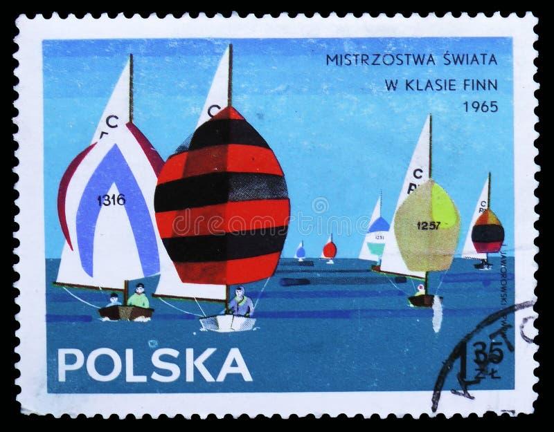 Groupe de classe de cadet, serie de yachts, vers 1965 image stock