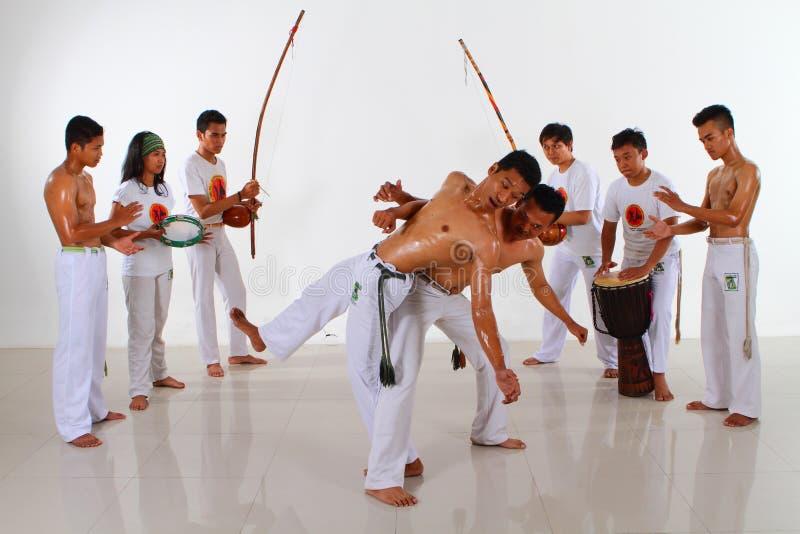 Groupe de combat de Capoeira image stock