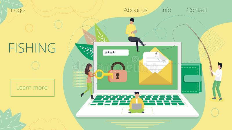Groupe de concept de pirate informatique volant des données illustration stock