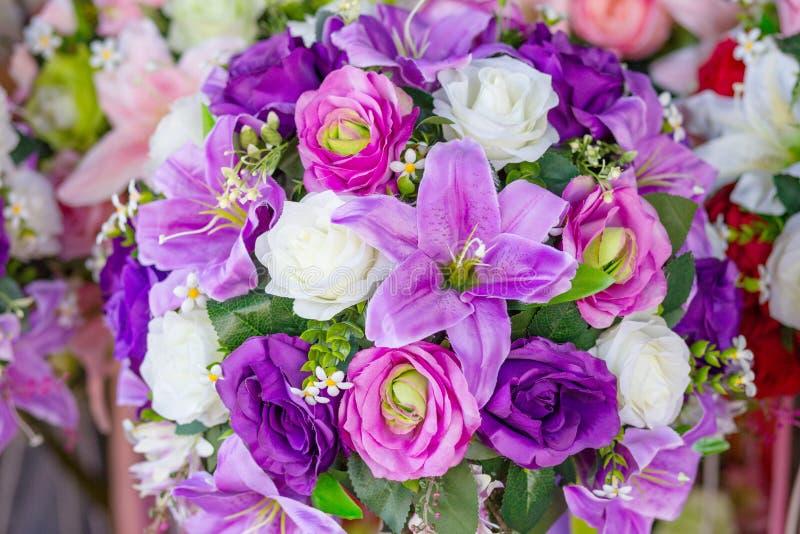 Groupe de couleur de violette de fleurs photos libres de droits