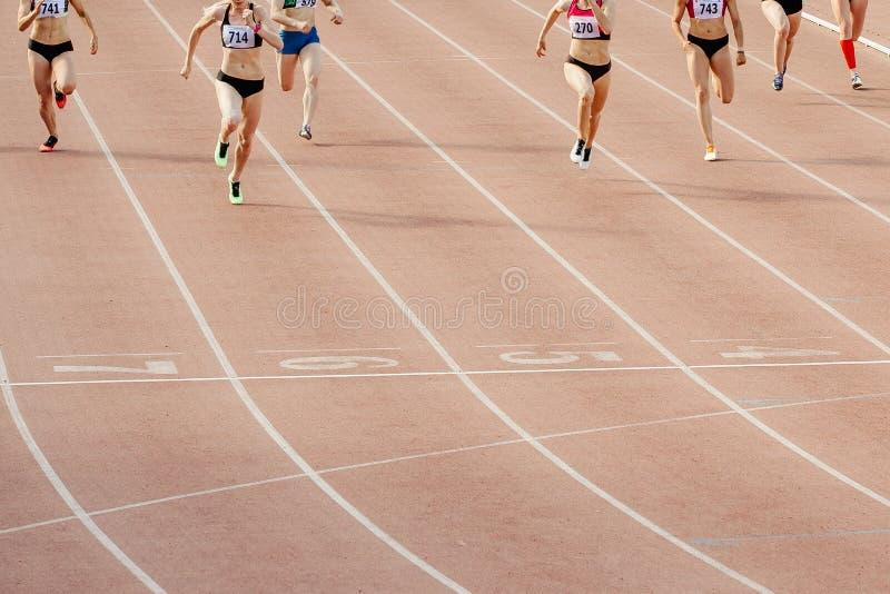 Groupe de coureurs de femmes photo stock