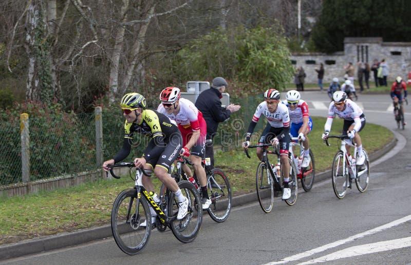 Groupe de cyclistes - 2019 Paris-gentil photographie stock libre de droits