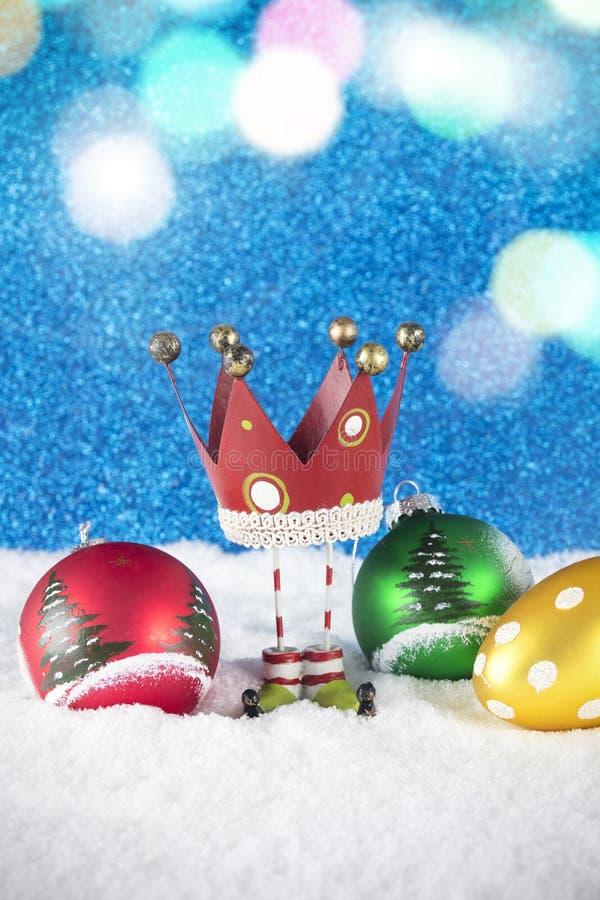 Groupe de décoration de Noël composé de babioles et de r colorés photo libre de droits