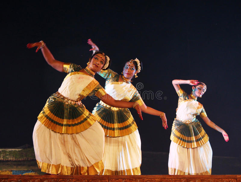 Groupe de danseurs de Mohiniyattam photos libres de droits
