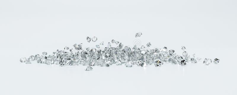 Groupe de diamants sur un fond blanc photo libre de droits