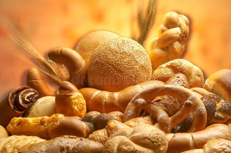 Groupe de différents produits de pain images libres de droits
