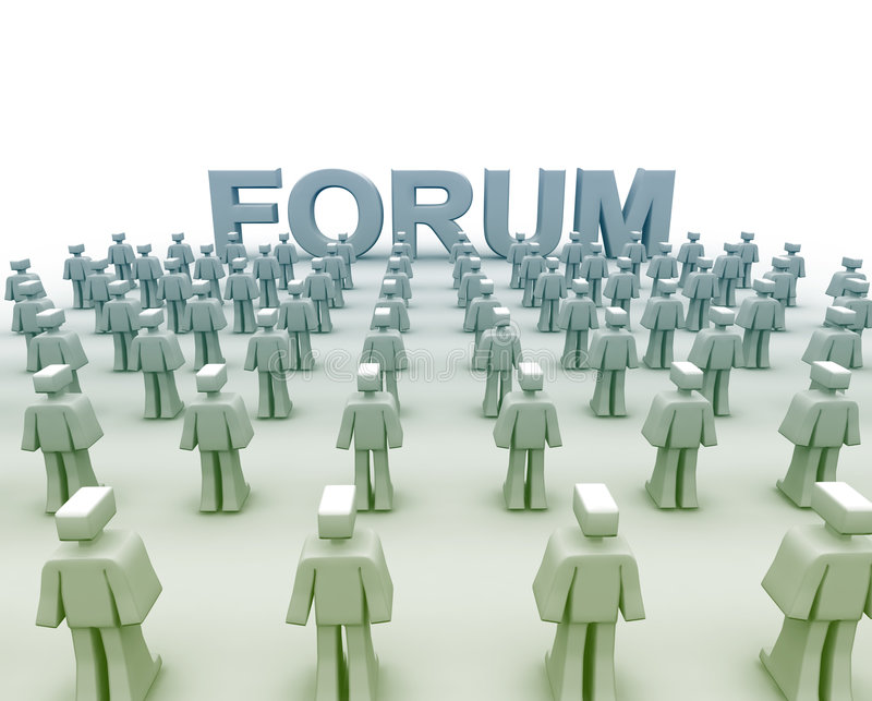Groupe de discussions de forum illustration stock