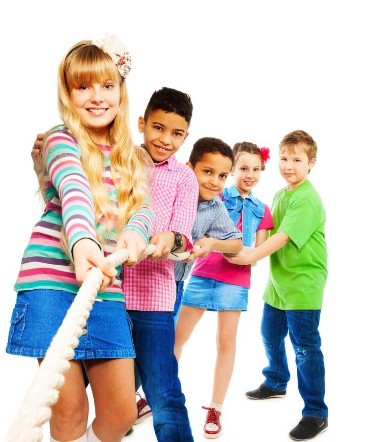 Traction de gain d'enfants photographie stock libre de droits