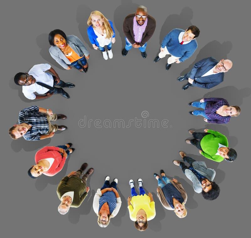 Groupe de diversité de gens d'affaires de la Communauté Team Concept photographie stock libre de droits