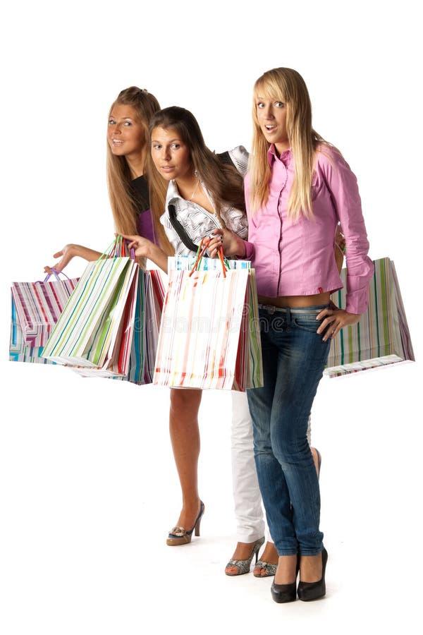 Groupe de filles d'achats photographie stock libre de droits