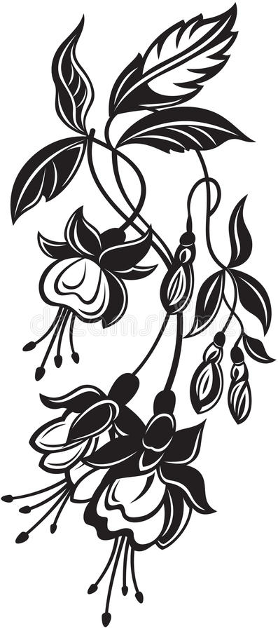 Groupe de fleurs décoratives illustration libre de droits