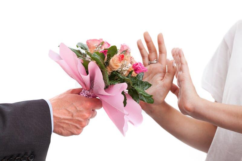 Groupe de fleurs rejeté photo libre de droits