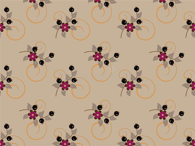 Groupe de fleurs sensible. Fond. Papier peint. illustration libre de droits