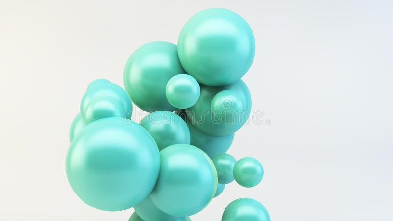groupe de flotter les boules colorées illustration libre de droits
