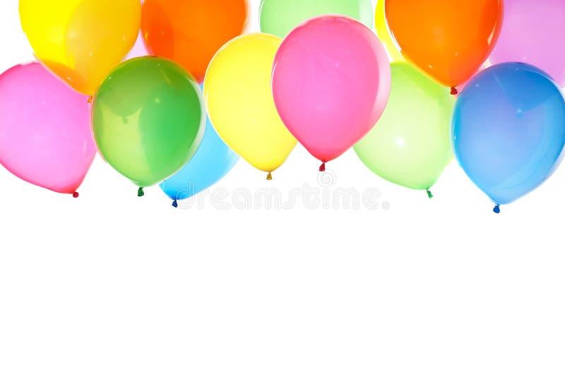 Groupe de fond coloré de ballons image libre de droits