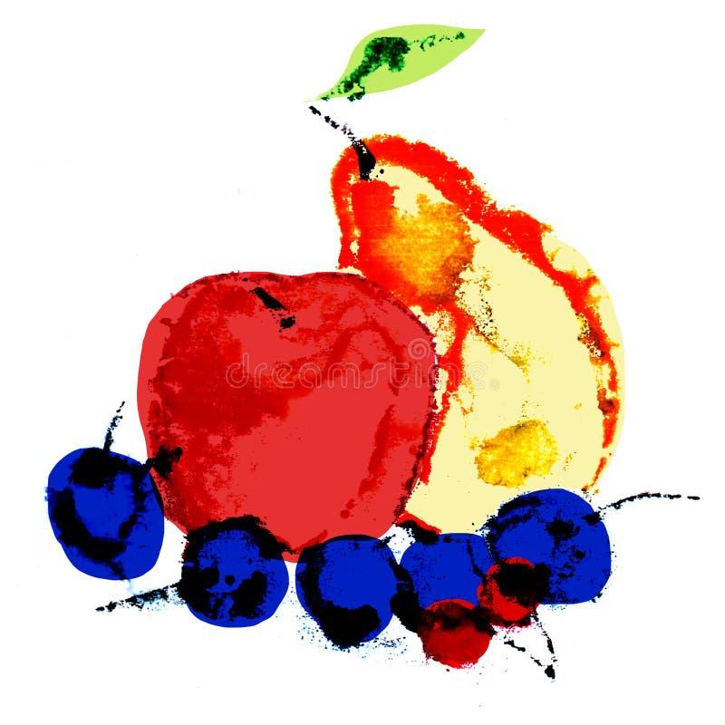 Groupe de fruits stylisés illustration libre de droits