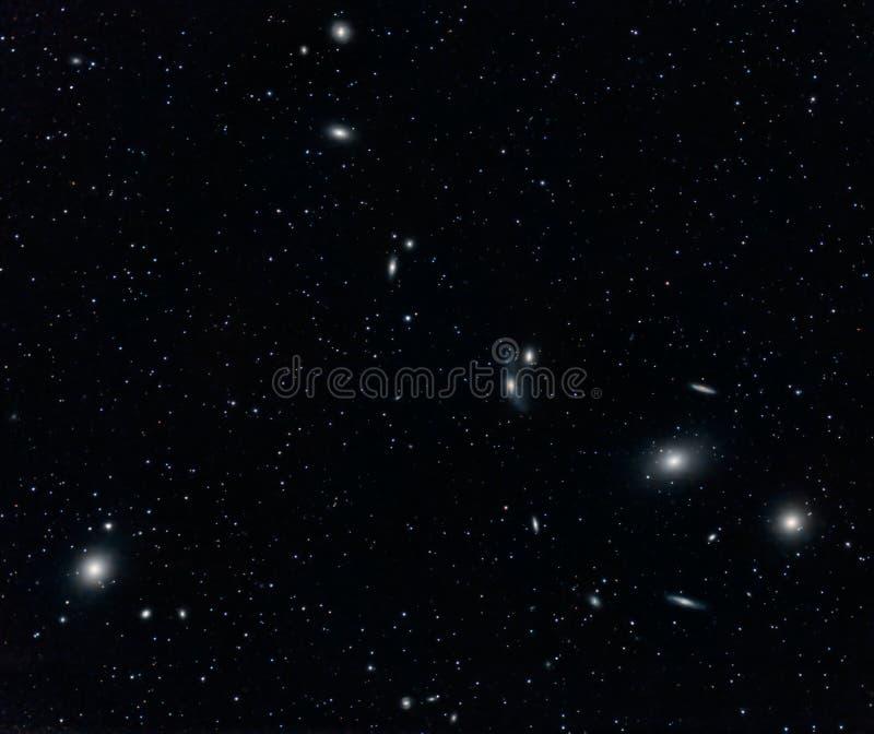 Groupe de galaxie dans la Vierge illustration de vecteur