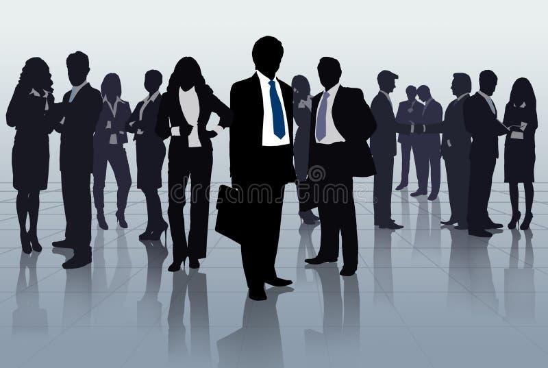 Groupe de gens d'affaires illustration libre de droits