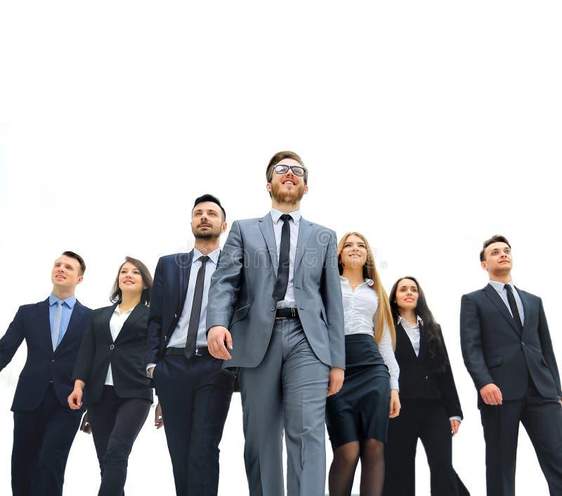 Groupe de gens d'affaires D'isolement au-dessus du fond blanc photos stock