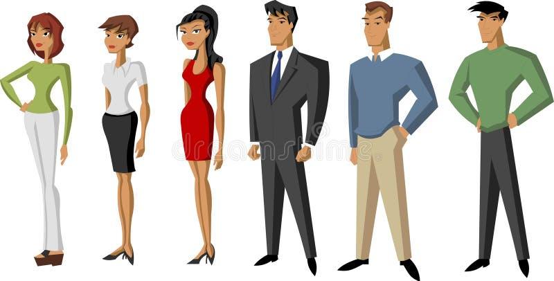 Gens d'affaires illustration stock