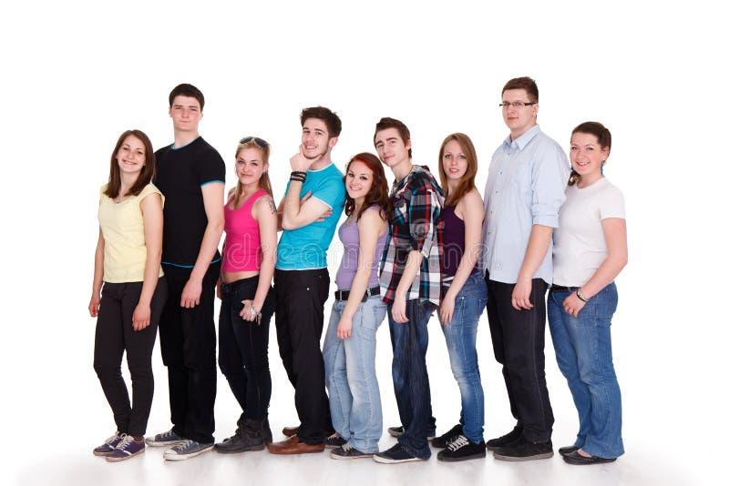Groupe de gens heureux photographie stock libre de droits