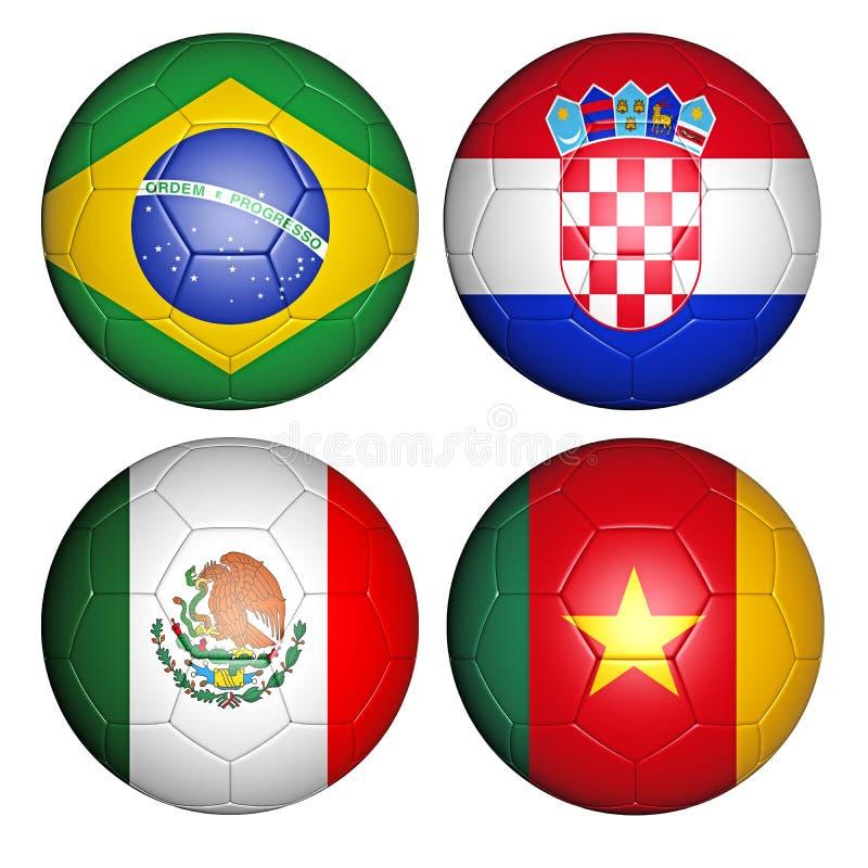 Groupe A de la coupe du monde 2014 illustration libre de droits