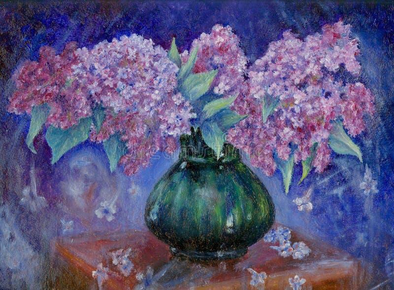 Groupe de lilas illustration de vecteur