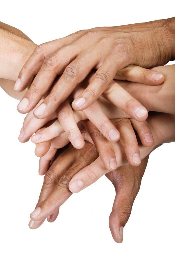 Groupe de mains photo libre de droits