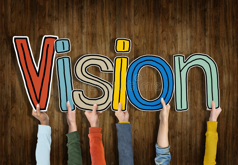 Download Groupe De Mains Tenant La Vision De Lettre Image stock - Image du initiative, analyse: 45367641