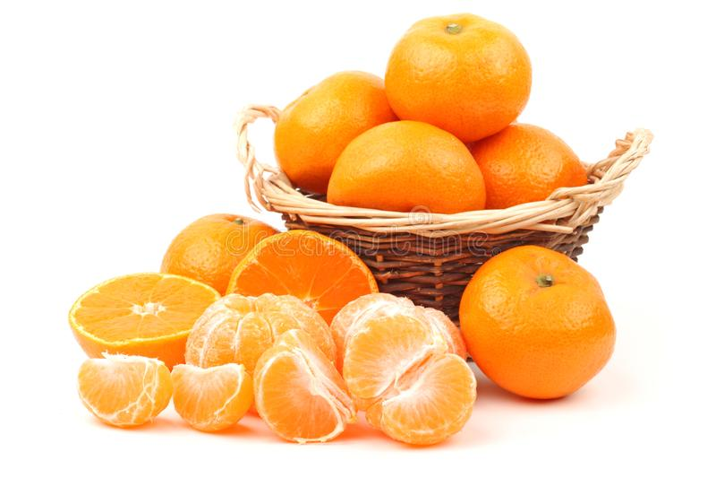 Groupe de mandarine photographie stock
