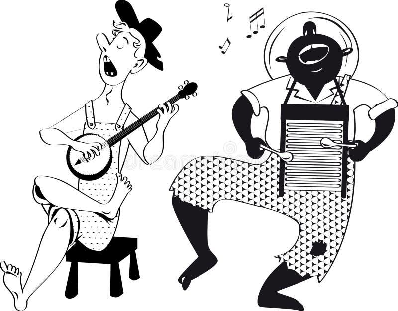 Groupe de musique de montagnard illustration de vecteur