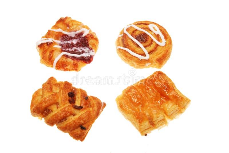 Groupe de pâtisseries danoises image stock