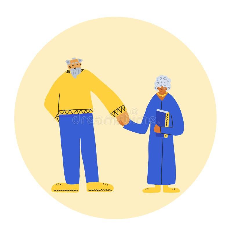Groupe de personnes âgées d'isolement Illustration de vecteur illustration stock
