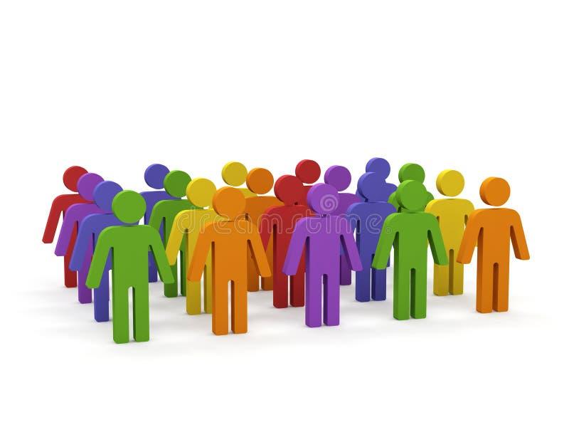 Groupe de personnes. illustration de vecteur