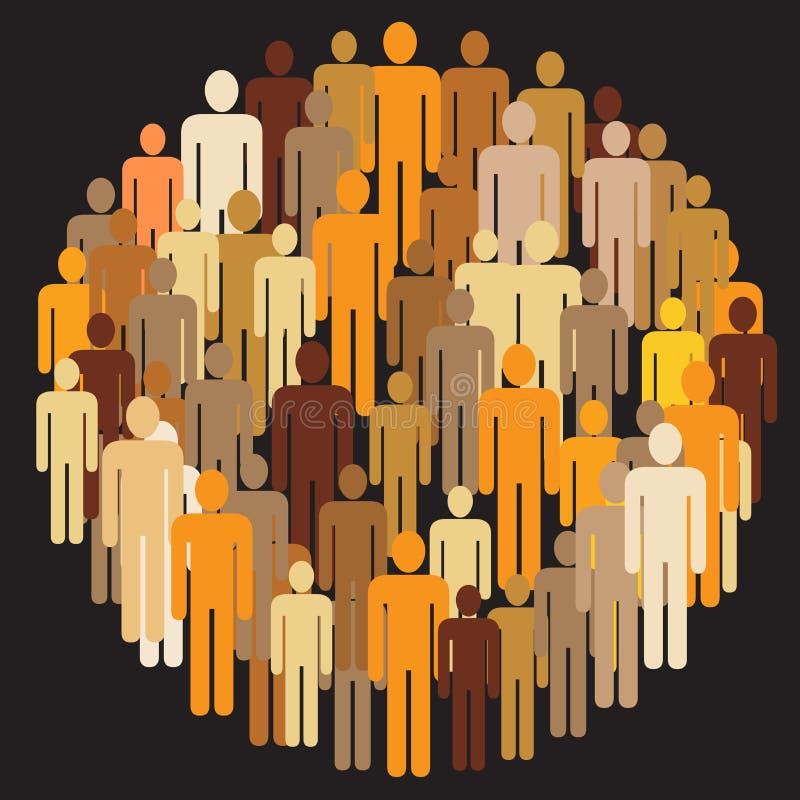 Groupe de personnes illustration libre de droits