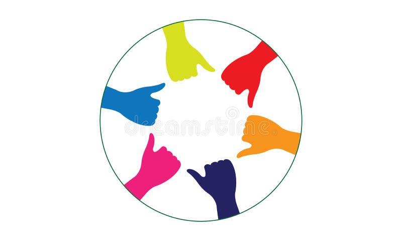 Groupe de personnes de beaucoup de mains ensemble mains de jointure illustration libre de droits