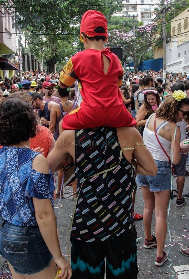 Groupe de personnes célébrant le carnaval brésilien photo stock
