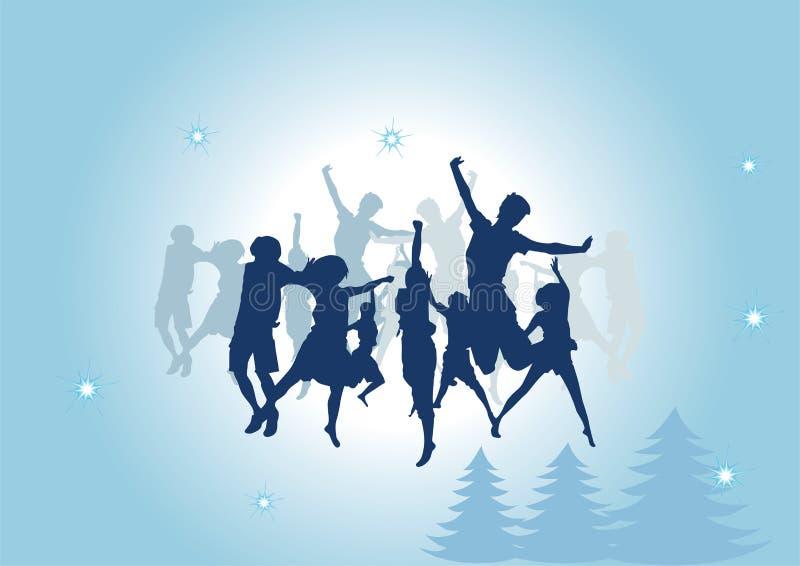 Groupe de personnes dans la danse illustration stock