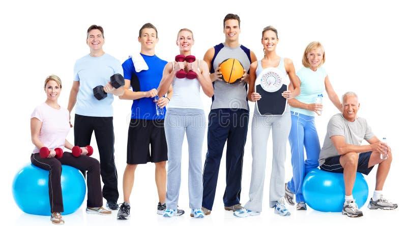 Groupe de personnes de forme physique images stock