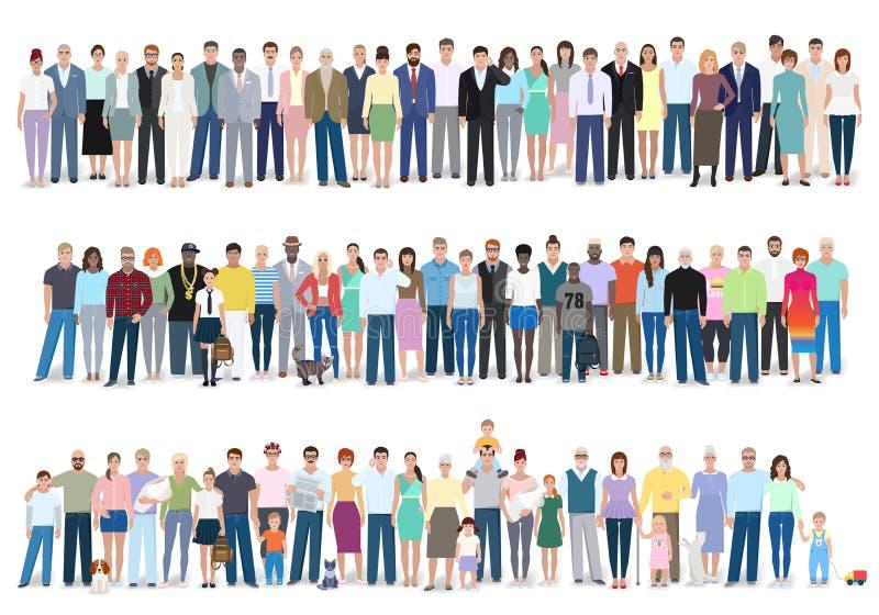 Groupe de personnes différentes, illustration de vecteur illustration de vecteur