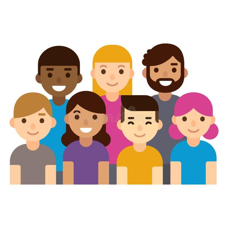 Groupe de personnes divers illustration de vecteur