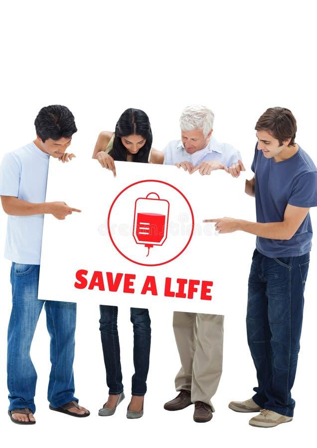 Groupe de personnes et le concept de don du sang images libres de droits