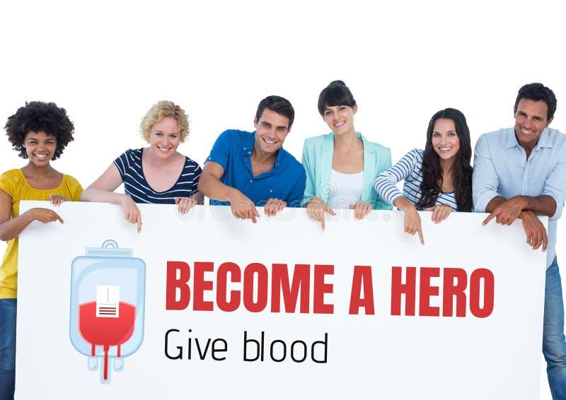 Groupe de personnes et le concept de don du sang image stock