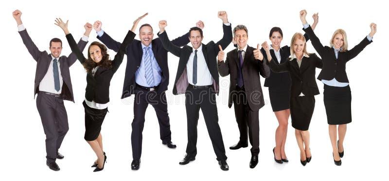 Groupe de personnes gens d'affaires excited images libres de droits