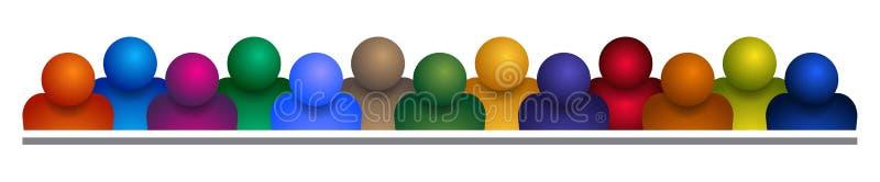 Groupe de personnes l'équipe sur le blanc illustration stock